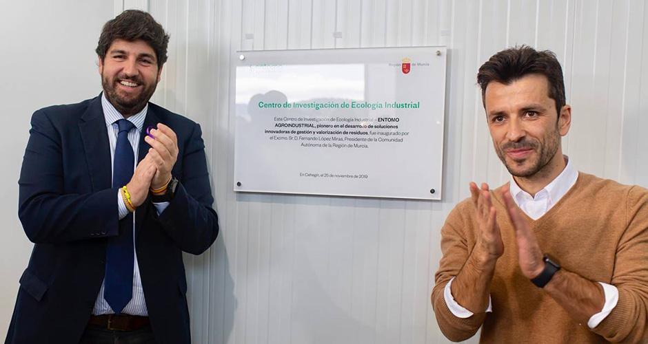 El Presidente de la Región de Murcia inaugura el Centro de Investigación de Entomo Agroindustrial