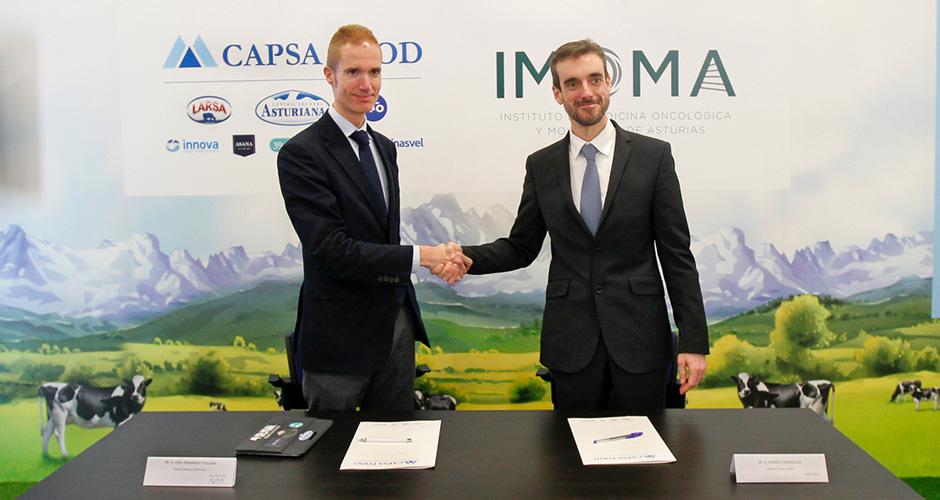 La firma del convenio entre IMOMA y CAPSA
