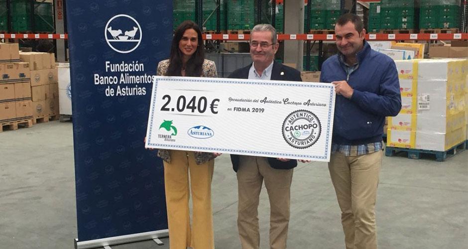 Entrega de la recaudación del Auténtico Cachopo Asturiano
